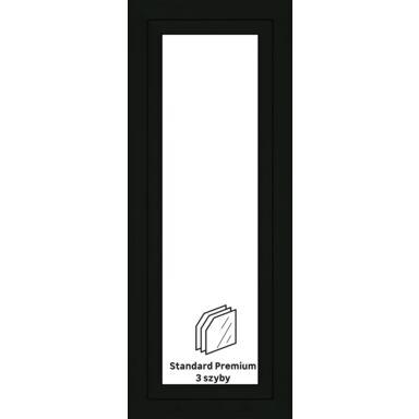Okno PCV 3-szybowe O26 Antracyt 565 x 1435 mm