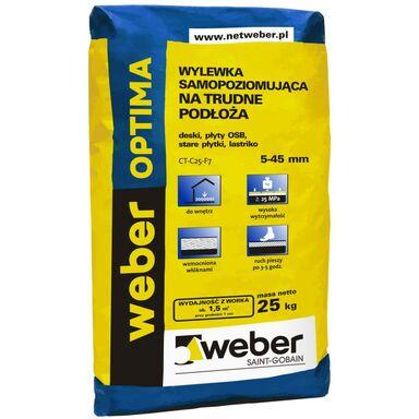 Wylewka betonowa SAMOPOZIOMUJĄCA OPTIMA TRUDNE PODŁOŻA 25kg WEBER