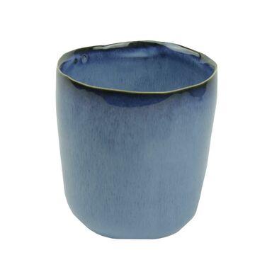 Osłonka ceramiczna 11 x 11 cm niebieska 985272 KAEMINGK