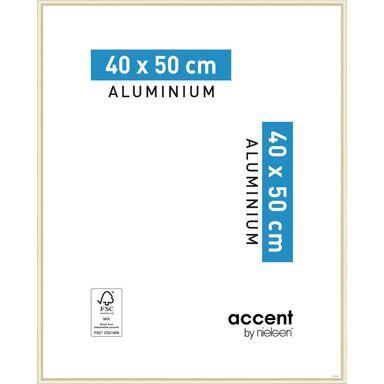 Ramka na zdjęcia ACCENT 40 x 50 cm złota mat aluminiowa