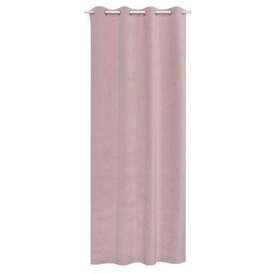 Zasłona welurowa DUBBO różowa 140 x 280 cm na przelotkach INSPIRE