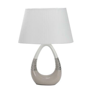 Lampa stołowa ROMANO biało-beżowa E27 CANDELLUX