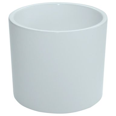 Osłonka ceramiczna 13 cm biała WALEC