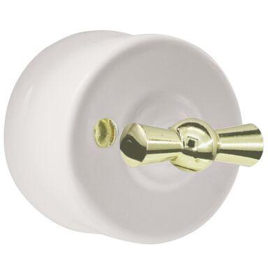 Włącznik pojedynczy CLA1101  biały  DPM