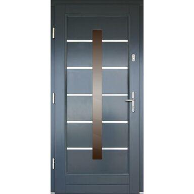 Drzwi wejściowe LM5 Antracyt 90 Lewe
