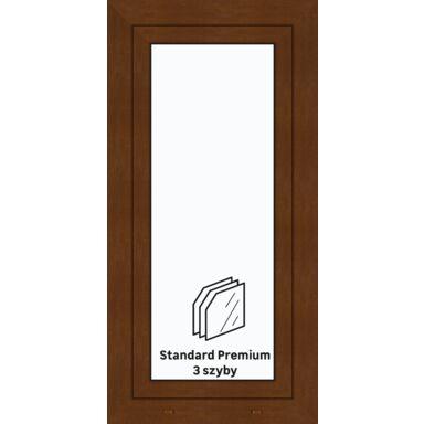 Okno PCV 3-szybowe O10 Złoty dąb 565 x 1135 mm