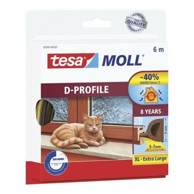 Uszczelka do drzwi i okien MOLL Profil D 6 m brązowa TESA