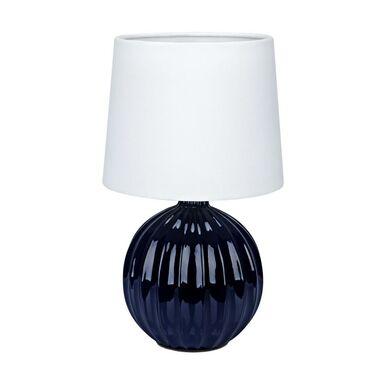 Lampa stołowa MELANIE biało-niebieska E14 MARKSLOJD