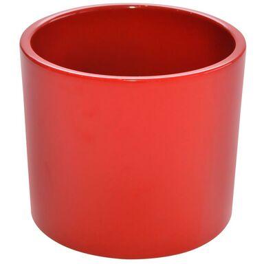 Osłonka ceramiczna 23 cm czerwona WALEC CERAMIK