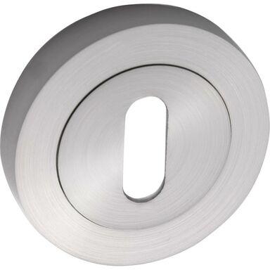 Rozeta drzwiowa pod klucz do gałki kryształ transparetny Nikiel