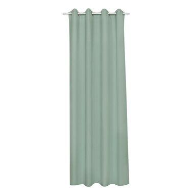 Zasłona Andrea zielona 140 x 280 cm na przelotkach Inspire