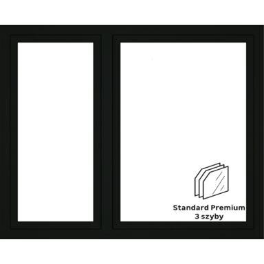 Okno PCV 3-szybowe O36 Antracyt 1765 x 1435 mm