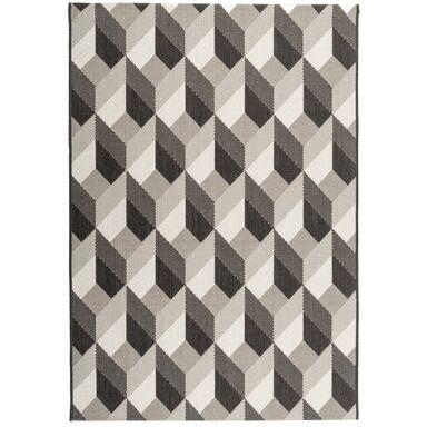 Dywan zewnętrzny PATIO czarno-biały 120 x 170 cm