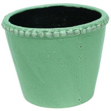 Osłonka ceramiczna 15 cm zielona EUKALIPTUS KAEMINGK