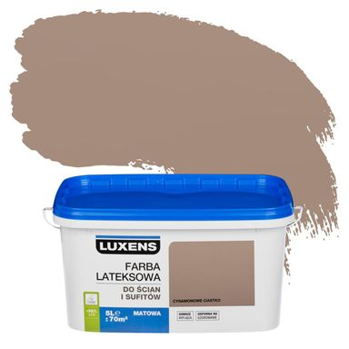 Farba wewnętrzna do ścian i sufitów EMULSJA 5 l Cynamonowe ciastko LUXENS