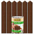 Lakierobejca do drewna SATIN FINISH 0,75 lOrzech włoski BONDEX