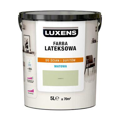 Farba wewnętrzna LATEKSOWA 5 l Forest 6 LUXENS