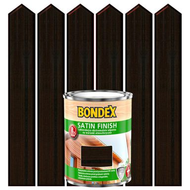 Lakierobejca do drewna SATIN FINISH 0.75 l  Makasar BONDEX
