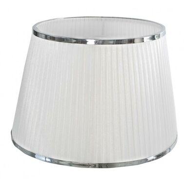 Abażur z taśmą 40 x 26 cm organza biały / chrom  E14 / E27 ORIVA AB