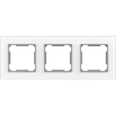 Ramka potrójna EDG1003GW białe-szkło LEXMAN