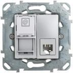 Gniazdo telefoniczno - komputerowe UNICA  aluminium  SCHNEIDER ELECTRIC