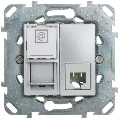 Gniazdo telefoniczno - komputerowe UNICA  Srebrny  SCHNEIDER ELECTRIC