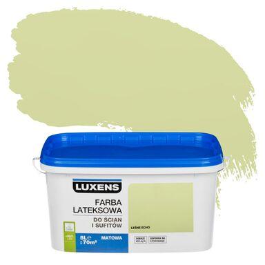 Farba wewnętrzna do ścian i sufitów EMULSJA 5 l Leśne echo LUXENS