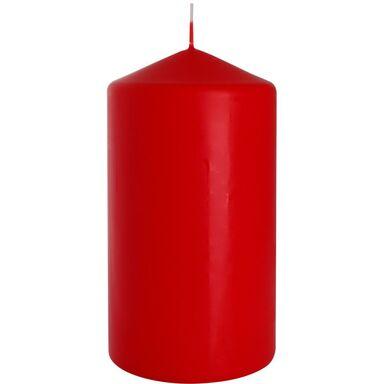Świeca pieńkowa czerwona wys. 15 cm