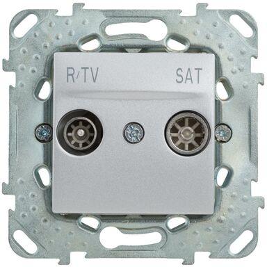 Gniazdo RTV PRZELOTOWE UNICA SAT Srebrny SCHNEIDER ELECTRIC