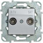 Gniazdo RTV / SAT przelotowe UNICA  aluminium  SCHNEIDER ELECTRIC
