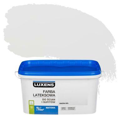 Farba wewnętrzna do ścian i sufitów EMULSJA 5 l Śnieżna biel LUXENS