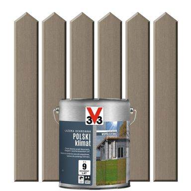 Lazura do drewna POLSKI KLIMAT WSPÓŁCZESNA 0,75 lSrebrnoszary V33