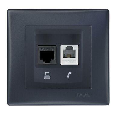 Gniazdo telefoniczno - komputerowe SEDNA  grafit  SCHNEIDER ELECTRIC
