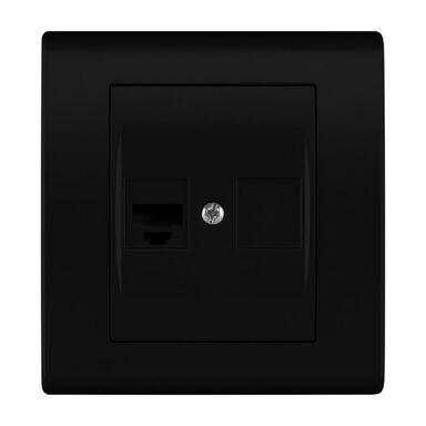 Gniazdo komputerowe CATRIN  czarny matowy  ELEKTRO - PLAST