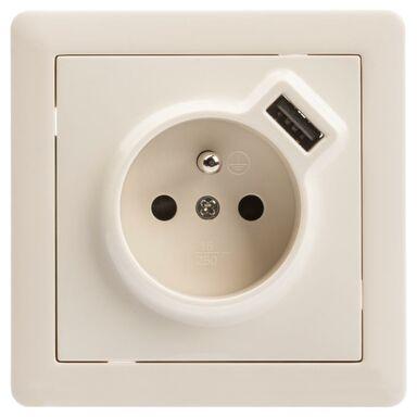 Gniazdo USB SLIM  krem  LEXMAN
