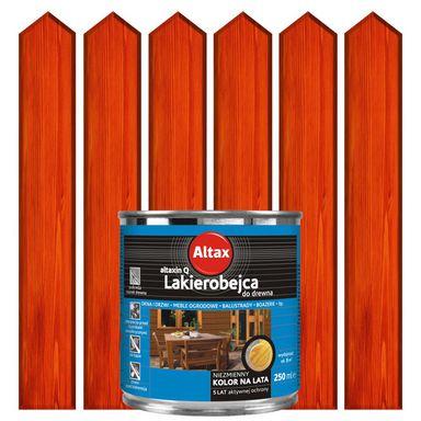 Lakierobejca do drewna 0.25 l  Mahoń ALTAX