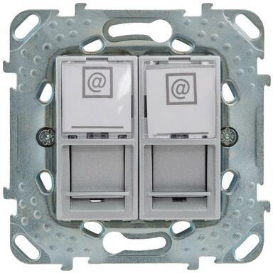 Gniazdo komputerowe podwójne UNICA  aluminium  SCHNEIDER ELECTRIC