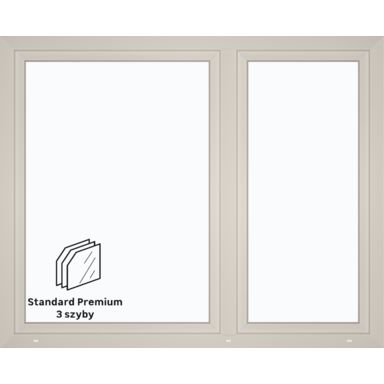 Okno PCV 3-szybowe O37 Białe 1765 x 1435 mm