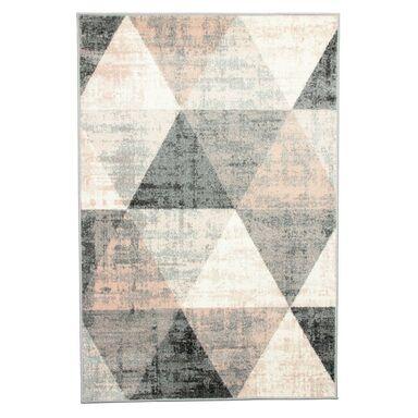 Dywan Pastel Trójkąty szary 80 x 150 cm