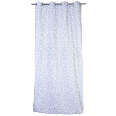 Zasłona bawełniana TOMASZ szara 140 x 260 cm na przelotkach