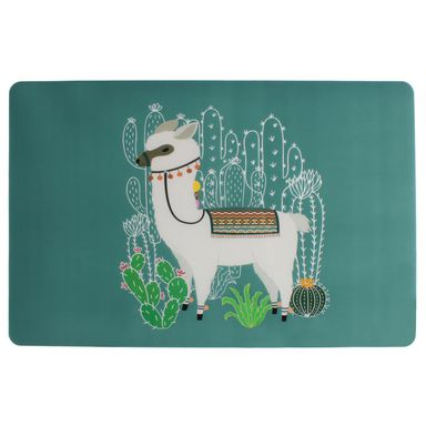Podkładka na stół Lama prostokątna 43 x 28 cm zielona