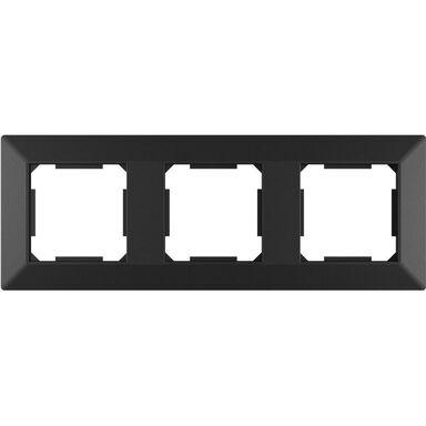 Ramka potrójna EDG1003B czarna LEXMAN