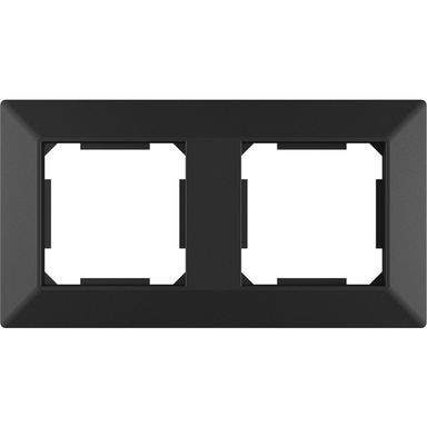 Ramka podwójna EDG1002B czarna LEXMAN