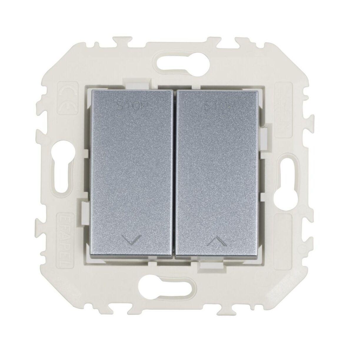 Włącznik żaluzjowy QUADRO Aluminium EFAPEL