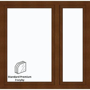 Okno PCV 3-szybowe O35 Złoty dąb 1465 x 1435 mm