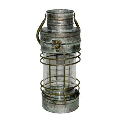 Latarenka na świeczkę Marina wys. 29 cm srebrna patynowana