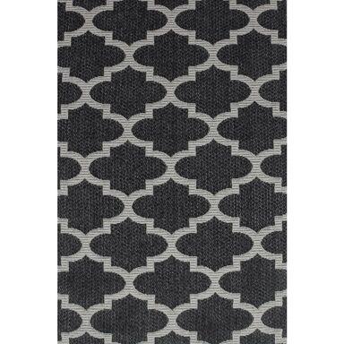Dywan bawełniany Mersin czarny 127 x 190 cm