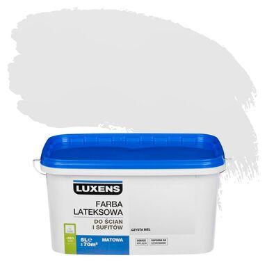 Farba wewnętrzna do ścian i sufitów EMULSJA 5 l Czysta biel LUXENS