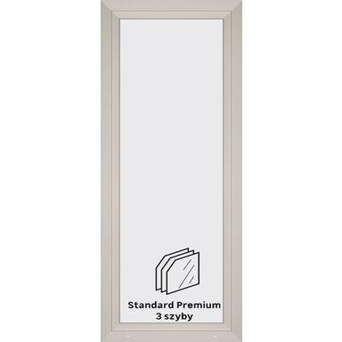 Okno PCV 3-szybowe balkonowe OB4 Białe 865 x 2095 mm