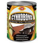 Farba na dach poliwinylowa CYNKOBOND 0.8 l Czarny DEN BRAVEN